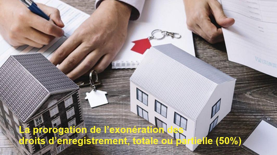 La prorogation de l'exonération des droits d'enregistrement est indispensable pour relancer le secteur immobilier